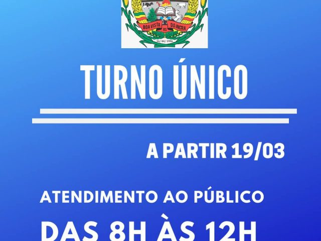 Boa Vista do Incra decreta turno único